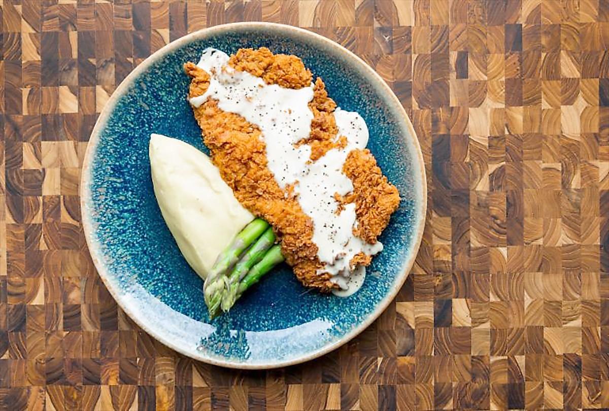 Chicken-fried sirloin flap steak at The Kitchen