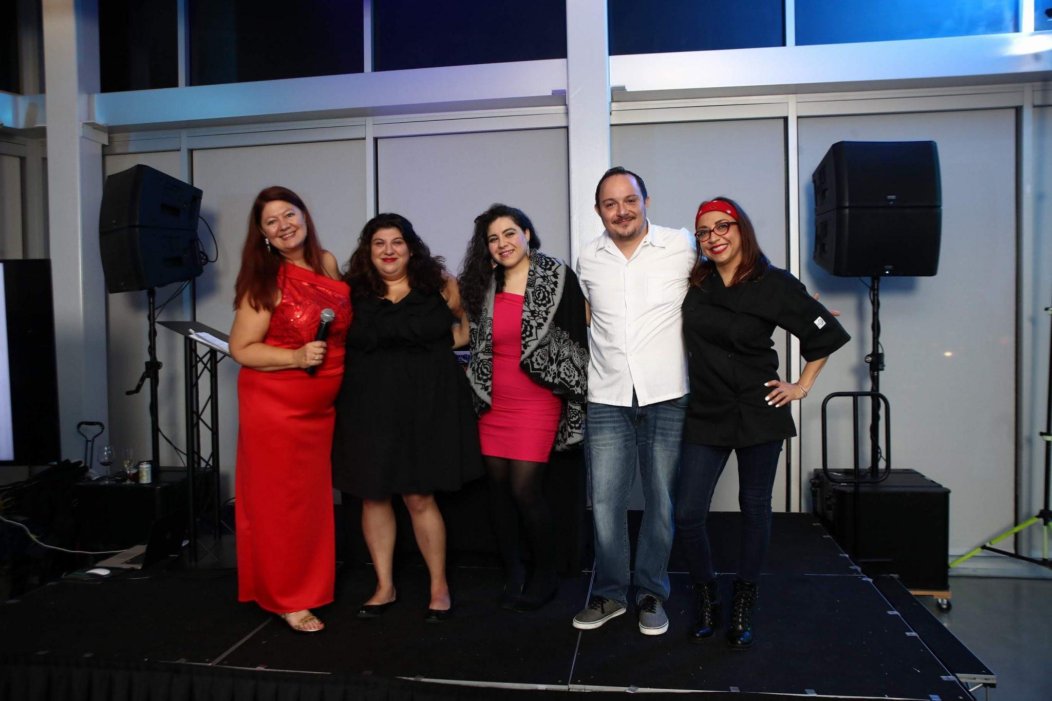 The Perfect 10 Gala coordination team from left to right: Phaedra Cook, Tish Ochoa, Karina Fernandez, C.J. Dilan and Vanessa Lomeli