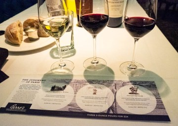 Judgment of Paris wine flight at Perry's Steakhouse & Grille