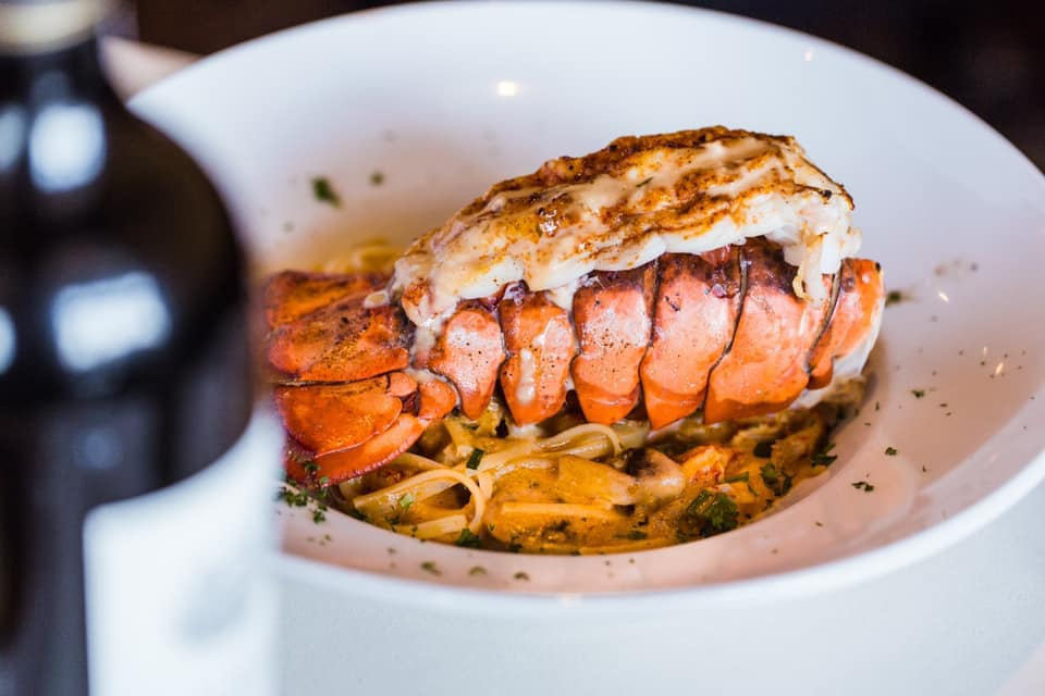 Picture of lobster tail on a plate