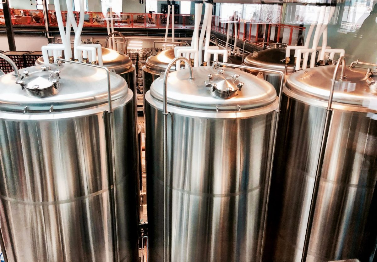 Fermentation tanks at Buffalo Bayou Brewing Co.