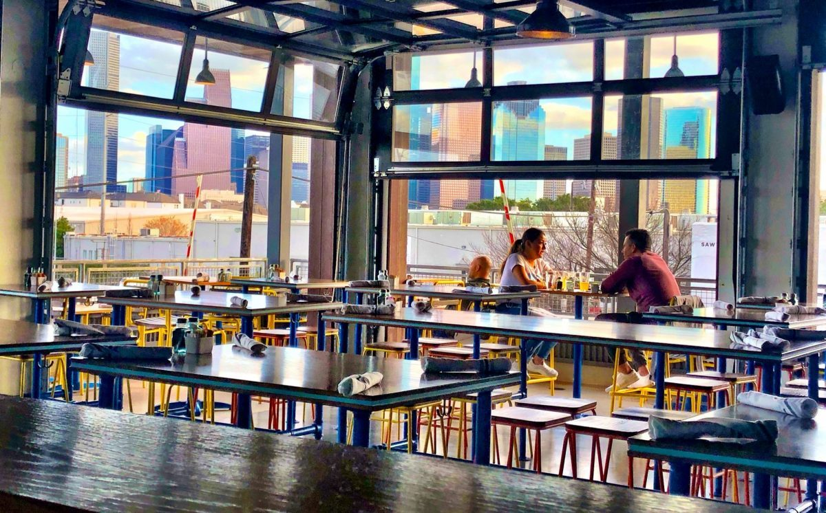 Buffalo Bayou Brew Co.'s second-floor restaurant