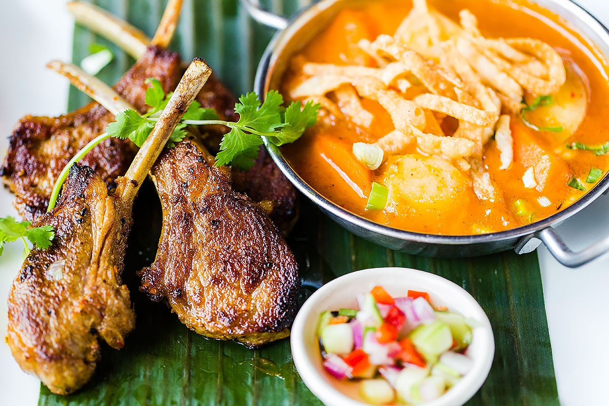 Lamb Chops with Massaman Curry at Songkran Thai Kitchen in Uptown Park