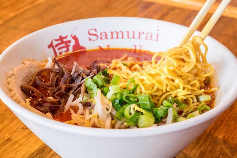 Spicy shoyu tonkotsu ramen at Samurai Noodle