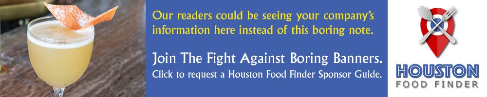 Sponsor Houston Food Finder's work and your banner could be here