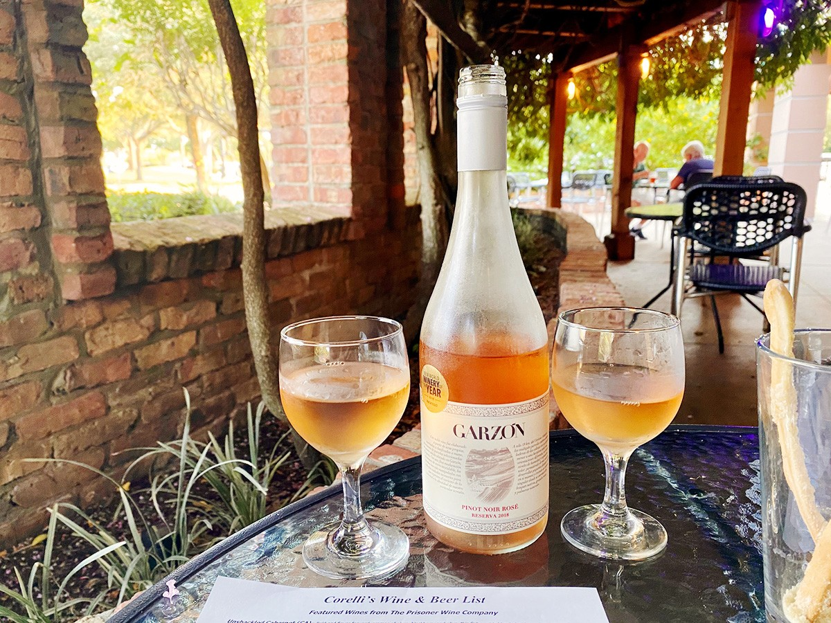 Rosé at Corelli's in Sugar Land