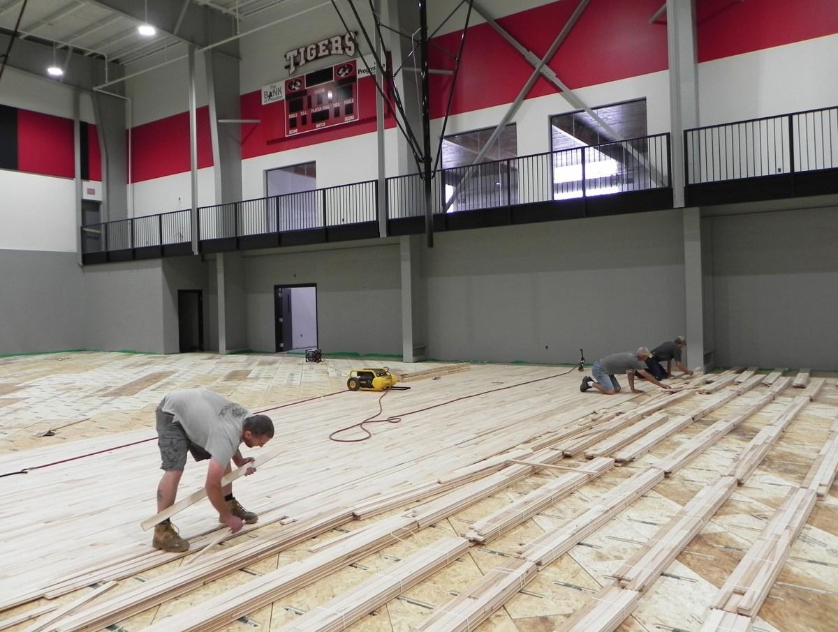 HHS Gym floor installation