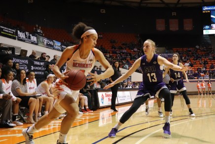 Women's Basketball Takes Down No. 1 SFA After Early Deficit