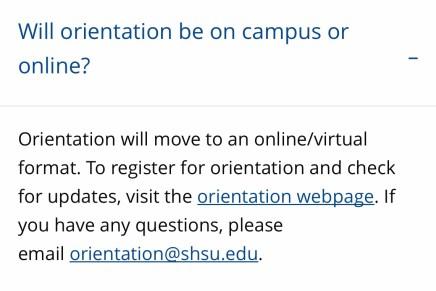 SHSU Moves Bearkat Orientation Sessions Online