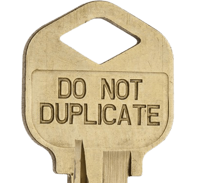 do not duplicate locksmith key copy