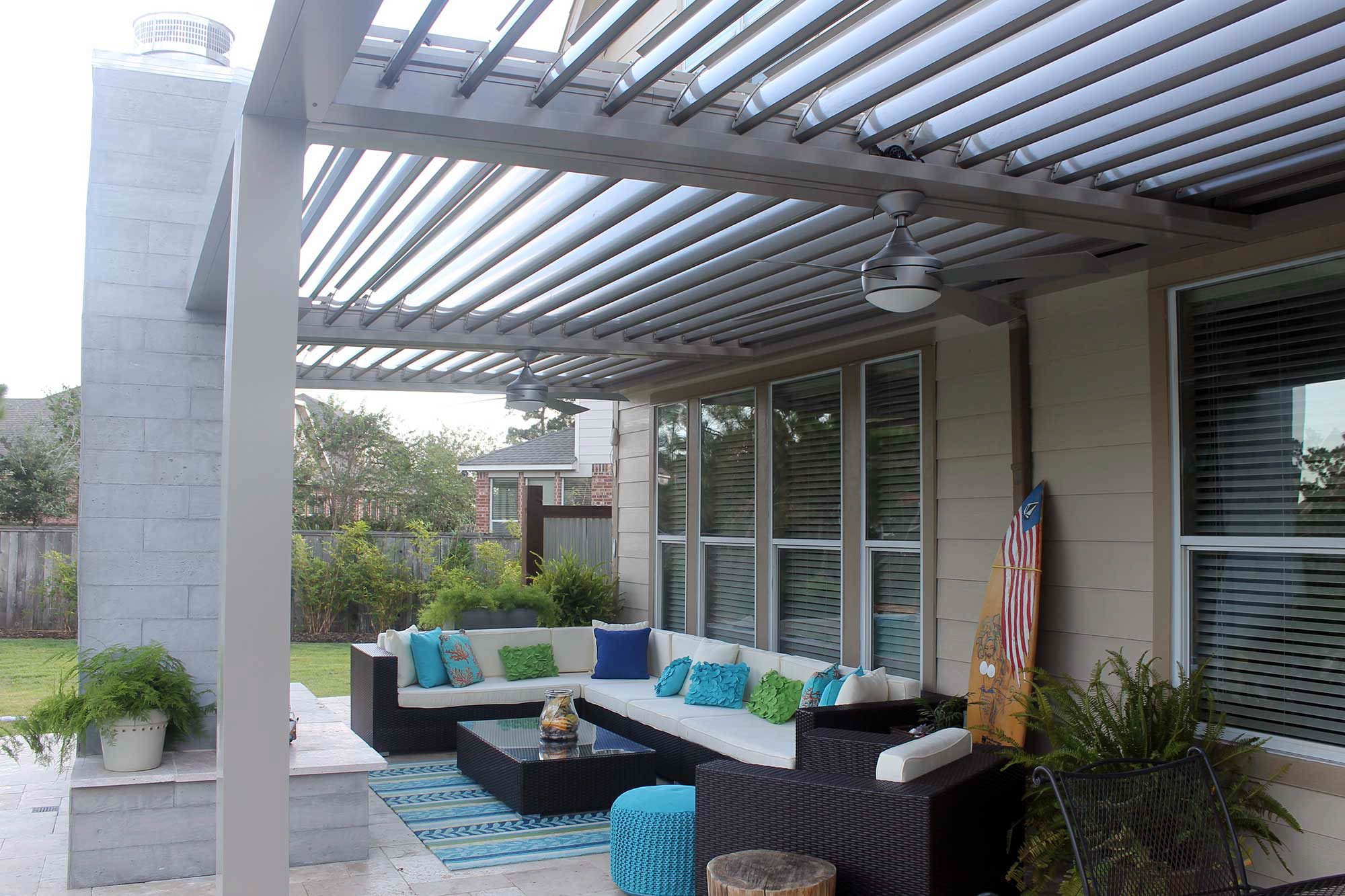 houston louvered roof adjustable patio covers houston tx