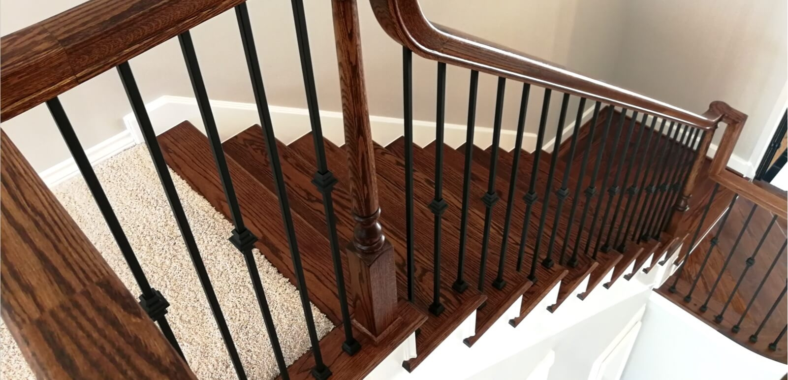 Houston Stair Parts Stair Remodel Iron Balusters Railing | Replacement Wood Stair Balusters | Cheap | Horizontal | Hallway | Split Entry | Cast Iron