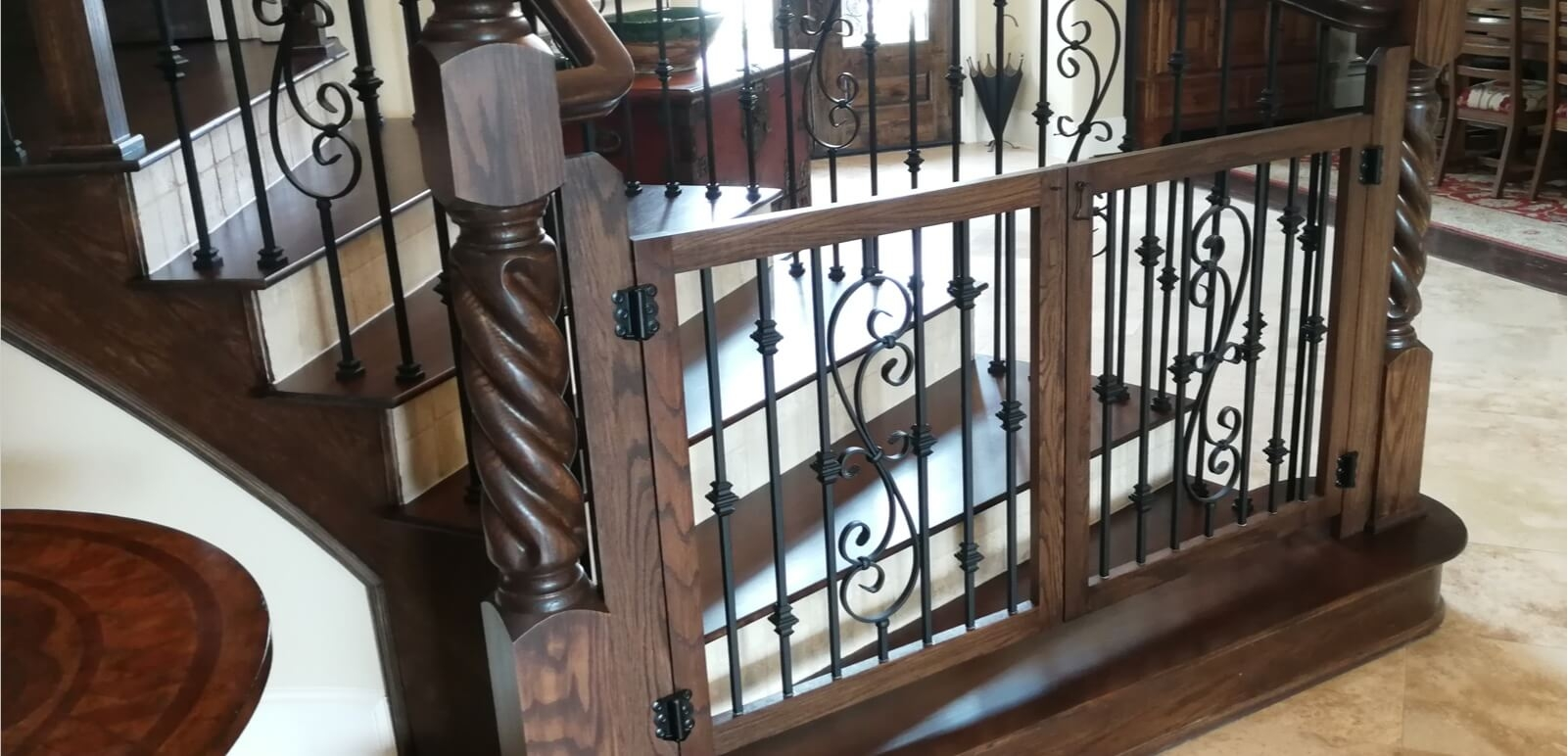 Houston Stair Parts Stair Remodel Iron Balusters Railing   Replacing Wood Balusters With Iron   Staircase   Stair Spindles   Stair Parts   Handrail   Stair Railing