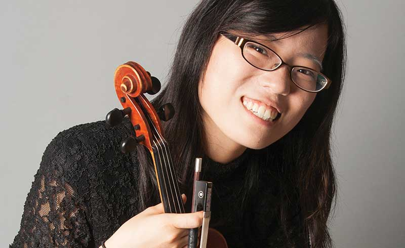Tina Zhang, second violin, professional headshot.