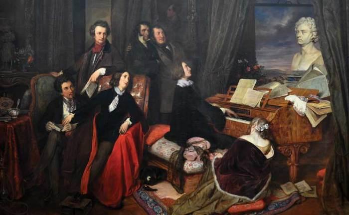 Josef Danhauser, Liszt am Flügel (1840)