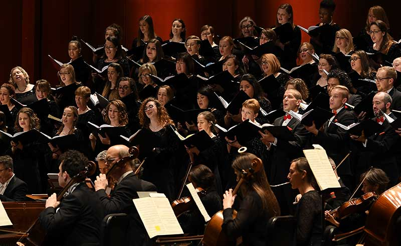 Houston Symphony and Houston Symphony Chorus.