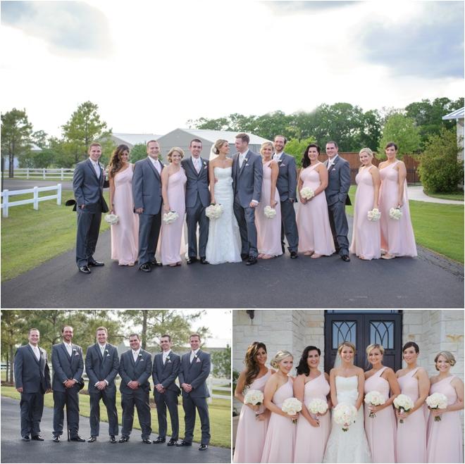 Pink And Gray Briscoe Manor Wedding By Lindsay Elizabeth