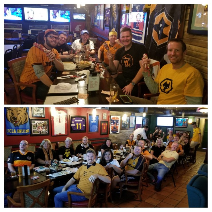 Wolves watch party in Houston Texas
