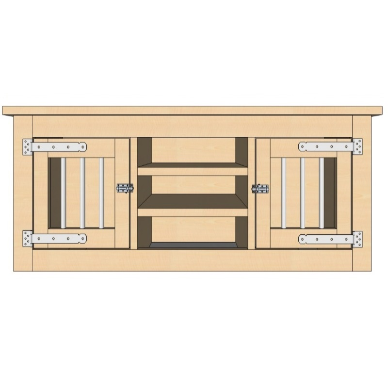 honden bench dressoir 2 deuren en vakken