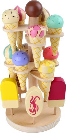 Houten speelgoed ijsjes stand