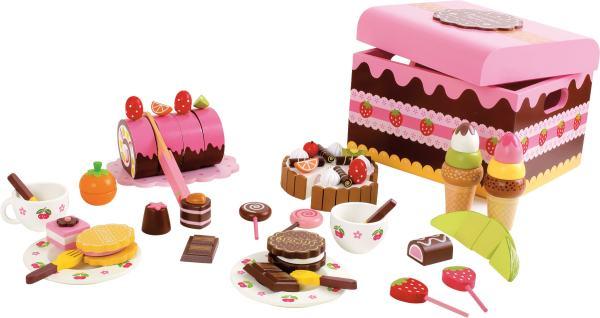 Houten speelgoed snoepjes