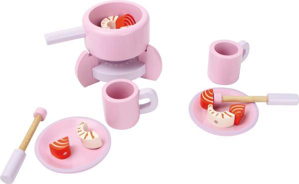 Houten fondue set speelgoed
