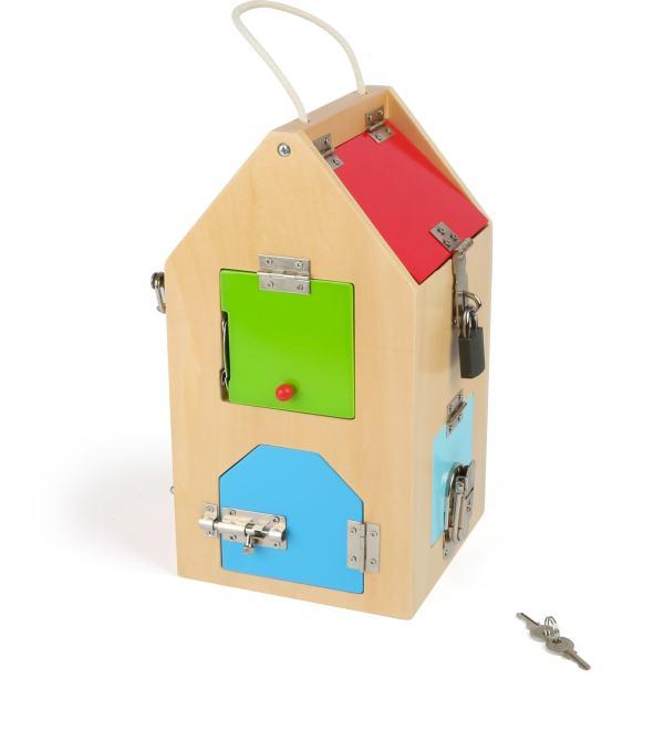 Houten huisje speelgoed sloten