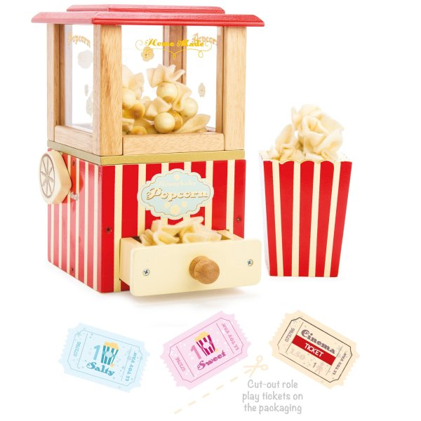 Houten popcorn machine retro