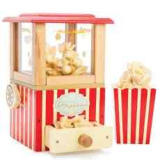 Houten popcorn machine retro