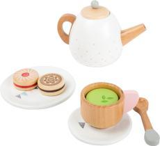 houten theeset