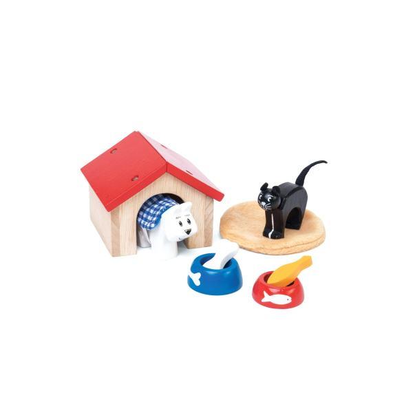 Houten huisdieren set
