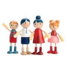 Houten Familie poppetjes