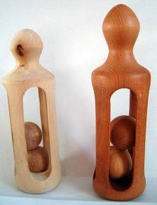 Berken, Beuken, ± 10 cm hoog, rammelaars