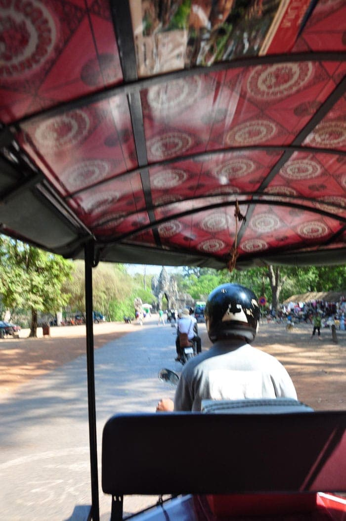 Viajar barato: Tuk Tuk con el que recorrimos Angkor Wat