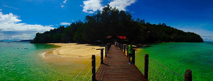 Playas de Malasia: Isla de Sapi en Borneo