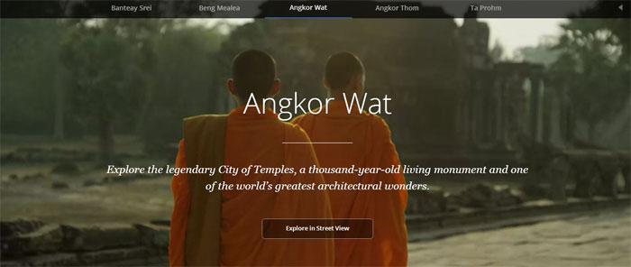 Los Templos de Angkor en Camboya como nunca los habías visto (Google Street View)