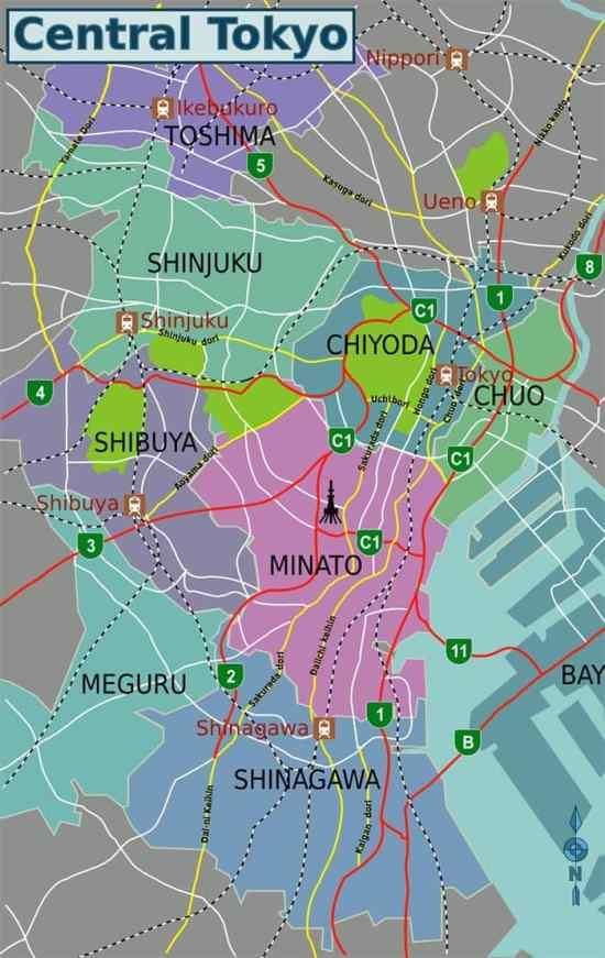 Mapa del Centro  de Tokio