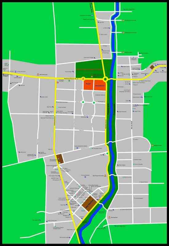 Mapa de Siem Reap Camboya