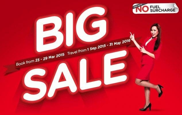 Oferta de vuelos baratos con AirAsia entre los 10 y los 100 dólares