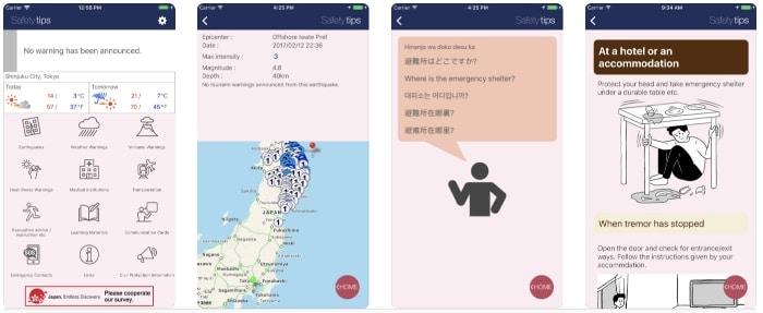 Safety tips japan
