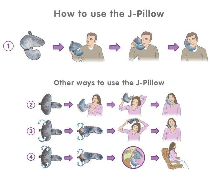 J-pillow almohada de viajes
