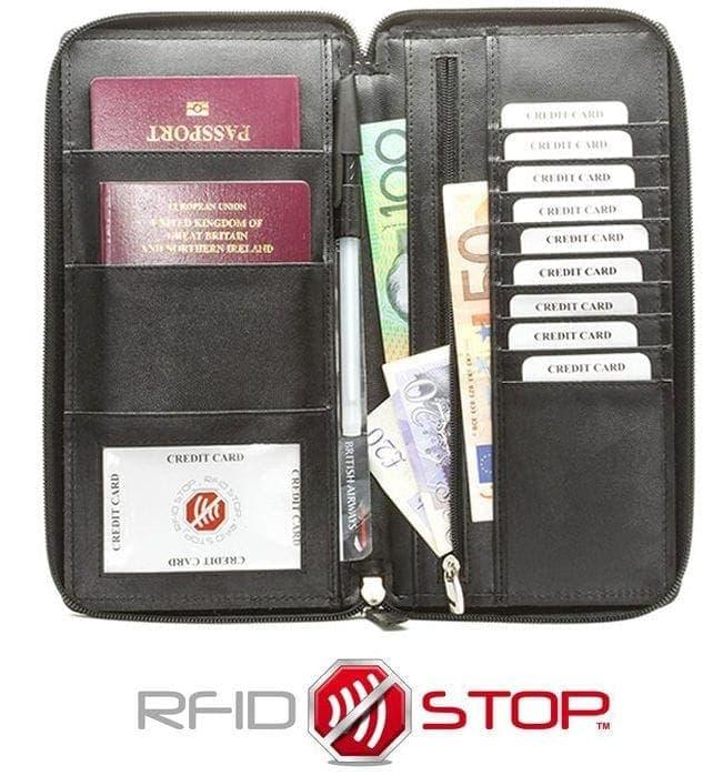 Koruma - Cartera viajes organizador con bloqueo de señales RFID