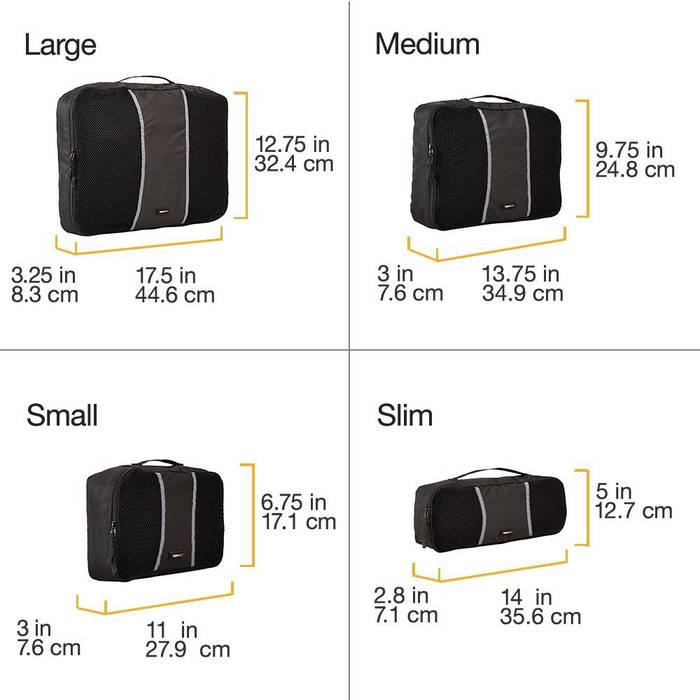 AmazonBasics - Bolsas de equipaje para organizar maletas