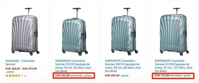 Rebajas en maletas Samsonite: ofertas en varios sets de equipaje