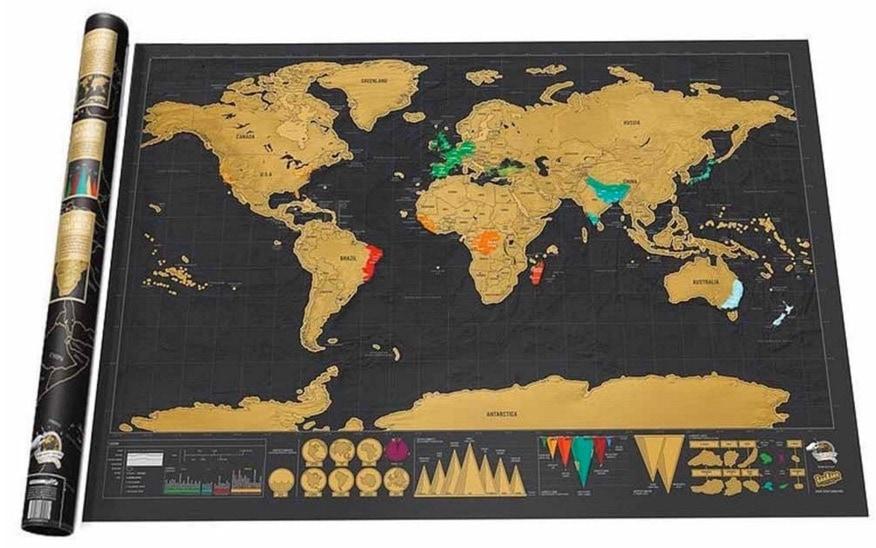 WLM Travel Deluxe – Mapa de pared para rascar tus viajes