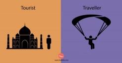Las principales diferencias entre un turista y un viajero