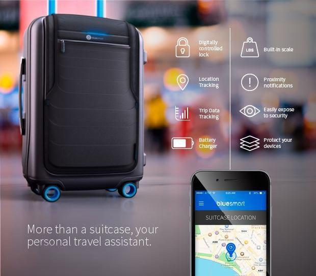 Bluesmart, la maleta inteligente que se conecta a tu smartphone