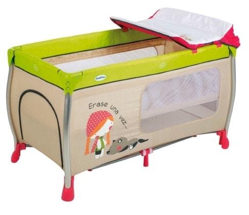 Cuna y parque de viaje plegable con cambiador para bebés