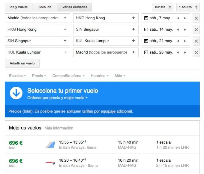 Google Flights o cómo encontrar el viaje y el vuelo perfecto (y barato)