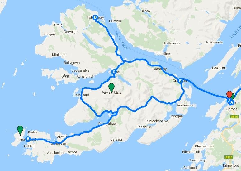 Oban: Excursión a la Isla de Mull